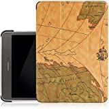 "Vintage (WORLD-MAP) Ultra Slim Lightweight PU Leather Folio Flip Case Flip Cover For SamSung Galaxy Tab A 8"" 8.0 Inch SM-T355 T351 T350 Flip Case Cover (Map - Brown)"