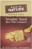 Back To Nature Gluten Free Rice Thins, Sesame Seed, 4 Ounce