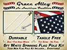 Flag Pole Kit: Outdoor Flag Pole Kit Includes Us Flag Made in Usa, Flagpole and Flagpole Bracket. Free Shipping for Amazon Prime Members. Flag Pole for House or Commercial. White Aluminum Flag Pole Kit By Grace Alley. Wind Resistant / Rust Free.