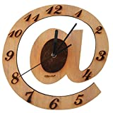 Giftgarden A Letter Wood Wall Clock for Houses Decorative Clocks