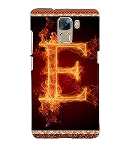 Fuson 3D Printed Alphabet E Designer back case cover for Huawei Honor 7 - D4194