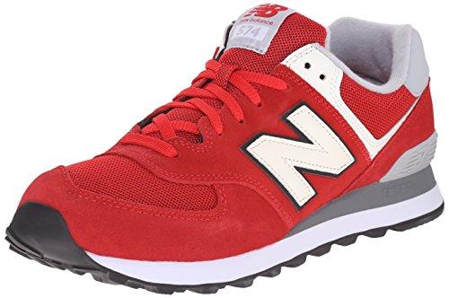 New Balance NBML574VAA Scarpe da Atletica Uomo, Rosso (Red Grey), 43