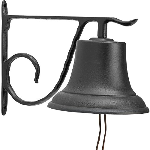 Whitehall Products Decorative Country Bell, Large, Black