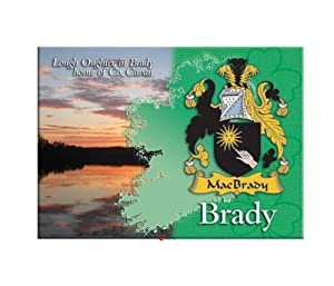 Brady Clan Metallic Picture Fridge Magnet