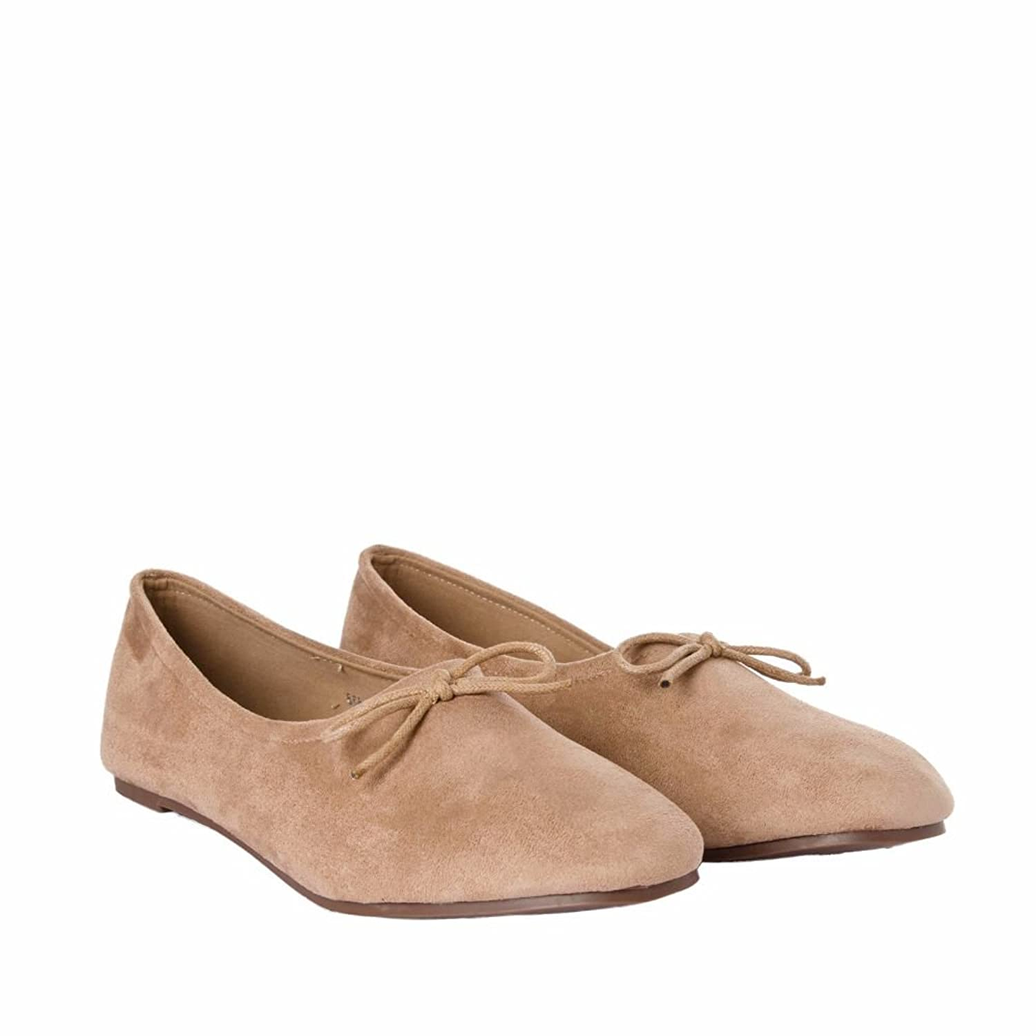 Joker & Witch Simple suede Nude shoes for Women and Girls …