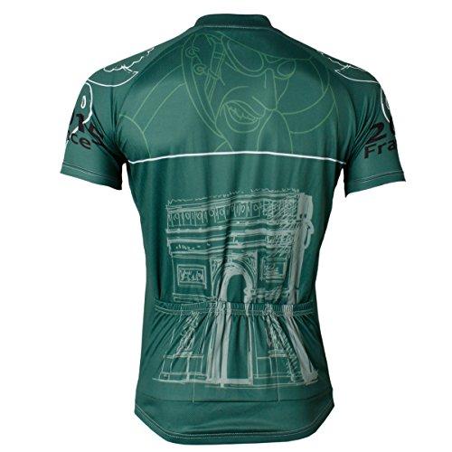 atmungsaktive-Tour-de-France-Herren-Kurzarm-Radtrikot-Grn