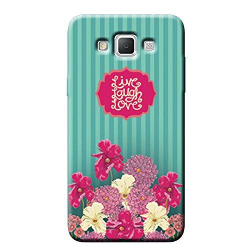 Garmor Live Laugh Love Design Plastic Back Cover For Samsung Galaxy Grand Max SM-G7200
