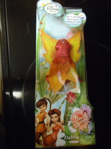 "Disney Tinkerbell Fairies ""Dahlia"" Flower Scent Fairy Doll Outfit"