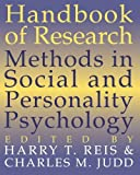 img - for Handbook of Research Methods in Social and Personality Psychology (2000-06-29) book / textbook / text book