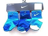 Nike Newborn Baby Socks White, Lt Blue, Navy Blue, 6 PAIRS, Size 12-24 Months