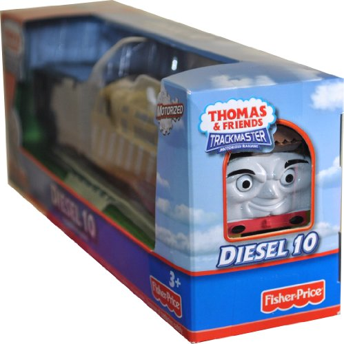Thomas and Friends Trackmaster Motorized Railway Battery Powered Tank Engine 2 Pack Train Set - DIESEL 10 with Troublesome Truck