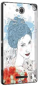 GsmKart SXC Mobile Skin for Sony Xperia C (Blue, Xperia C-762)