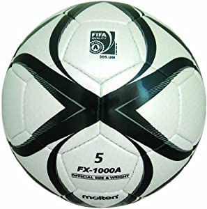 Molten FX-1000 Match Soccer Ball, FIFA Approved (Black/White, Size 5)