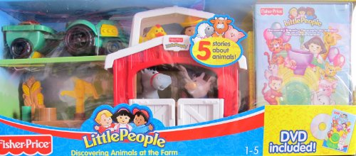 Little People Discovering Animal At The Farm W Barn & 3 Animals, Sonya Lee, Dvd & More! (2006 Fisher-Price)