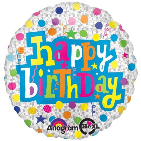 Anagram International Hx Birthday with Diamonds Balloon, Multicolor