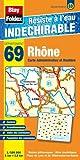 echange, troc Blay-Foldex - Rhône (69) - Carte départementale, administrative et routière (échelle : 1/180 000)