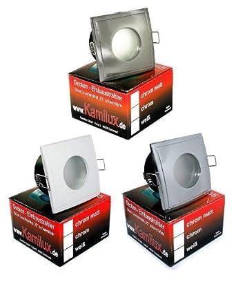 IP65 Nassraum Deckenstrahler Einbauspots AQUA SQUARE 12Volt /& starke 5 Watt LED