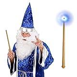 Varita mágica con luz y sonido palito ilusionista hada luz varilla auxiliar mago