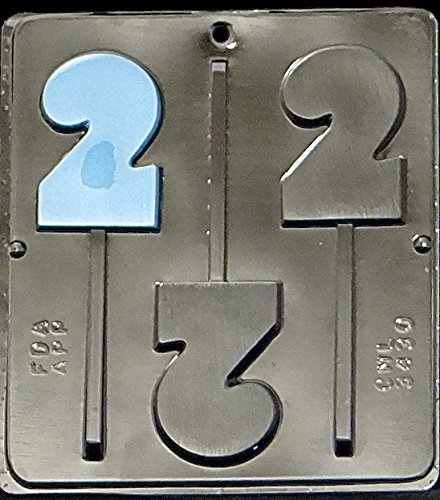 Number 2 Lollipop Chocolate Candy Mold Birthday #2 3430 (Chocolate Mold Number 8 compare prices)