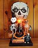 Halloween Decorations - Lighted Halloween Skeleton Vignette By Christopher James - Made in the USA - Lighted Halloween Decoration