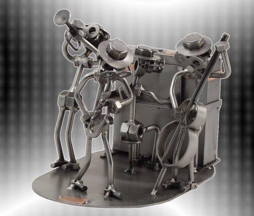 Boystoys-HK-Design-Jazz-Band-JazzMusik-Schraubenmnnchen-Metall-Art-Geschenkideen-Deko-Skulptur-Musiker-Musikinstrumente-hochwertige-Original-Figuren-handgefertigt