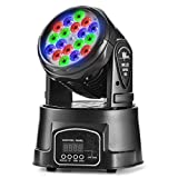 Eyourlife 18 X 3w Moving Head Light Stage Lights Moving Head Spot Dmx512 4 Ch. RGB Light