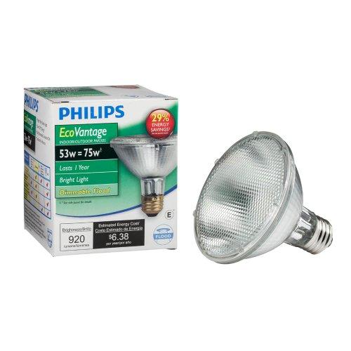 Philips 421438 53-Watt Par30S Dimmable Ecovantage Flood Light Light Bulb