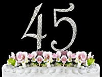 Rhinestone Cake Topper Number 45