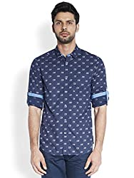 ColorPlus Navy Shirt ( 8907397021613_COSA00651-BE_00M_Navy)