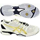 Asics Gel Solution Speed Mens Tennis Shoes White Gold Black by ASICS