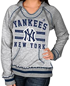 New York Yankees Ladies Majestic Slugger Hooded Sweatshirt by Majestic