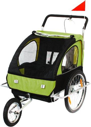 SAMAX Fahrradanhänger und Jogger 2 In 1, grassy black, 56640014