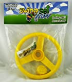 """Deluxe Steering Wheel 12"""" Diameter Complete with Bushing and Decorative Cap Yellow with SSS logo Sticker"""