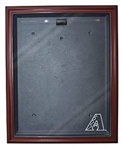 MLB Arizona Diamondbacks Cabinet Style Jersey Display, Mahogany by Caseworks