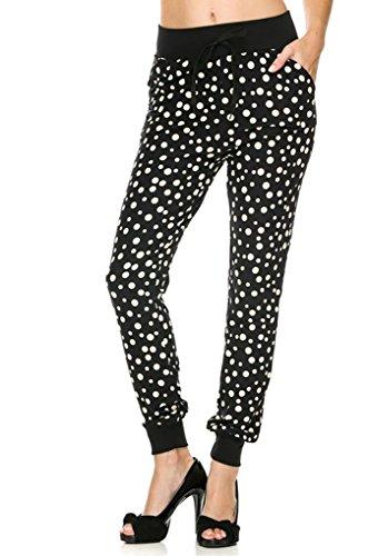 New-Kathy-Juniors-Printed-Brushed-Poly-Soft-Jogger-Pants