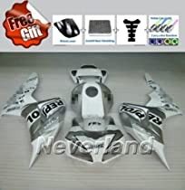 Pieces//kit: 21 ZXMOTO Motorcycle Injection Bodywork Fairing Kit for 2004-2005 Honda CBR 1000 RR 1000RR 04-05 Gloss Black