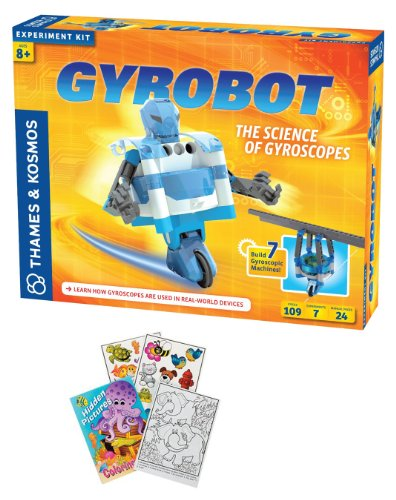 Thames & Kosmos 620301 Gyrobot Science Kit With Coloring Book