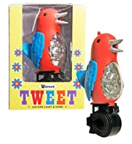 """Tweet"" Tweeting Bird LED Bike Safety Light & Horn-Flashlight Feature (Red)"