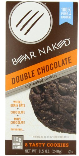 Bear Naked Soft Baked Granola Cookies, Double Chocolate, 8.5-Ounce Boxes (Pack of 6)