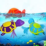 2 Pcs Rainbowkids Baby bath toys,Floating Wind-up Swimming Turtle Summer Toy For Kids Child Pool Bath Fun Time within 3months to 36 months