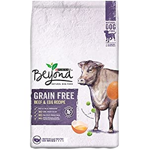 Purina Beyond Natural Dry Dog Food, Grain Free, Beef & Egg Recipe, 3-Pound Bag, Pack of 1