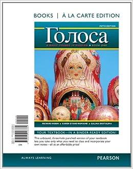 Golosa: A Basic Course in Russian, Book One, Books a la Carte Edition