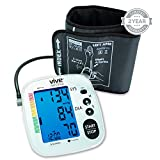 Blood Pressure Monitor by Vive Precision - Best Automatic Digital Upper Arm Cuff - Most Accurate, Portable & Perfect for Home Use - One Size Fits All Cuff - 2 Year Warranty
