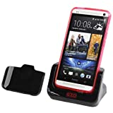 EZOPower Sync Transfer USB Cradle Desktop Charger Dock with Detachable Case Plate for the new HTC One (AT&T, T-Mobile, Sprint) -Best Deals And Discounts 2013