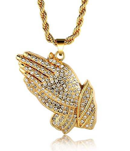 halukakah-18k-real-gold-plated-prayer-hand-pendant-necklacedense-cz-inlaywith-free-rope-chain-30-thi