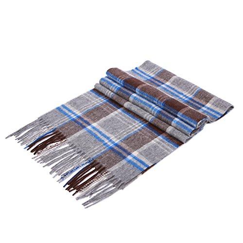 Saferin-Men-100-Cashmere-Luxury-Plaid-Shawls-Scarf-Grey-10