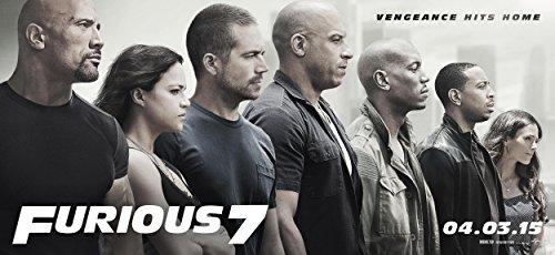 Fast and the Furious 7 Poster (26x12Inch) Matte Photo Paper / Vin Diesel, Paul Walker