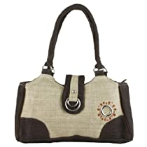 Earth Divas MH-135-NNB Natural Brown Hemp Double Ring Stylish Handbag