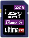 Memzi 32GB Class 10 45MB/s Ultima Pro SDHC Memory Card for Toshiba Palm Held Camileo Series Digital Camcorders