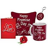 Sky Trends Valentine Combo Gift For Boyfriend Printed Coffee Mug Cushion Cover Keychain Greeting Card Artificial Rose Gift For Kiss Day Propose day Promise Day Hug Day Rose Day Gifts title=
